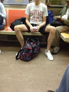 """""""When you get to the hard-core violators and courtesy doesn't work, then you have to take enforcement action,"""" Moerdler told am New York.   New York Subway Officials To Shame People Sitting With Their Legs Spread"""