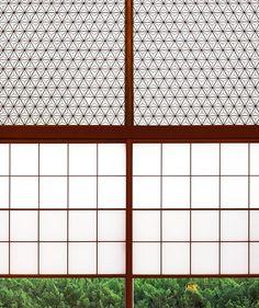 Love this mid-century style Japanese window screen at the historic Okura Hotel in Tokyo