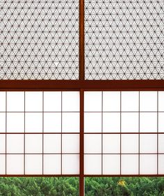 Love this mid-century style Japanese window screen at the historic Okura Hotel in Tokyo