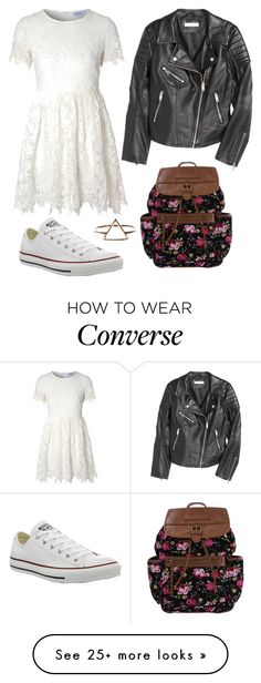 """""""Geen titel #122"""" by anoukvos on Polyvore featuring mode, Glamorous, H&M et Converse"""