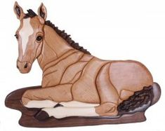 Horse intarsia by Kathy Wise