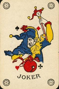 Joker Unique Playing Cards, Playing Cards Art, Joker Playing Card, Joker Card, Joker Clown, Play Your Cards Right, Pierrot, Cartomancy, Dictionary Art