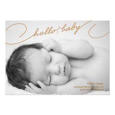 Hello Baby - Newborn Birth Announcement
