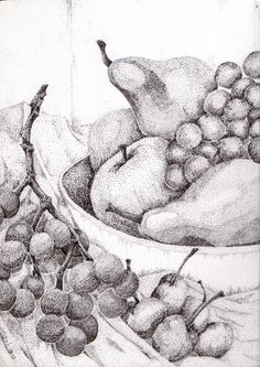 Pointillism Fruit Bowl - Artists2artists Social Network