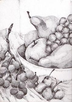 Pointillism Fruit Bowl - Artists2artists Social Network