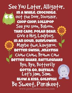Sweet ways to say bye to your kids. These no-tear ideas will turn tears into smiles! www.pintsizedtreasures.com