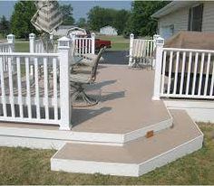 Installation of Various Style's & Colors of Custom Composite Railings to Rear Decks for Homes, Condominiums and Townhouses in Essex County and Northern New Jersey....