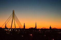 The sun is setting above Riga!