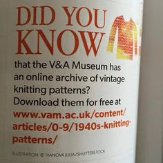 Free knitting patterns for all friends! When you are in London you can use the library (membership for free) and have a look in old knitting books. Loom Knitting, Knitting Stitches, Knitting Patterns Free, Knit Patterns, Vintage Patterns, Knitting Books, Mode Crochet, Knit Or Crochet, Yarn Projects