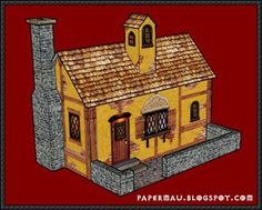 Medieval Paper House Free Building Paper Model Download