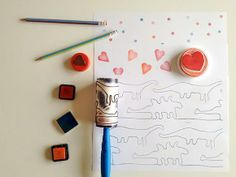 Great ideas from @Handmade Charlotte for handmade Valentine's Day stationery!