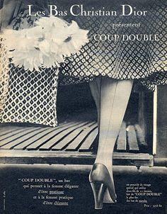 Christian Dior (Lingerie) 1954 Stockings Hosiery from hp prints.