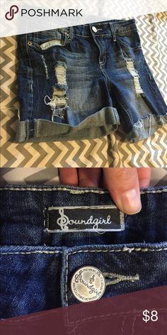 Jean shorts Longer mid thigh shorts, actually a size 9 Shorts Jean Shorts