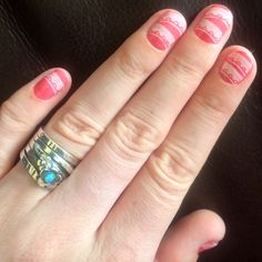 Rimmel -rose libertine, fun with nail stamping!! :D