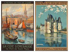 vintage travel poster - ค้นหาด้วย Google