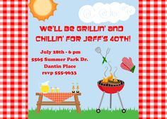 Grillin' and Chillin' Birthday Party by celebrationspaperie, $11.00