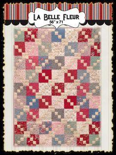 La Belle Fleur by French General  quilt kit $70.00  www.myreddoordesigns.com