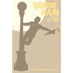 Singin' in the Rain 12x18 inches movie poster by ClaudiaVarosio