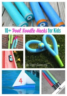 """10+ Pool Noodle Hacks for Kids via createcraftlove.com  [note: to view all of the pool noodle links, click on """"Next"""" under the slideshow]"""
