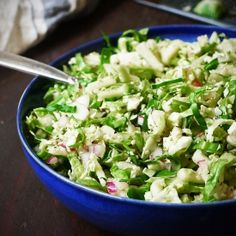 Refreshing summer salad with brussels sprouts, apple, and red onion. Bring on the flavor and nutrition!