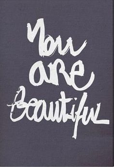 "Love this powerful wall art with the quote ""You are beautiful"" as a constant reminder."