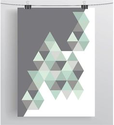 Ideas For Wall Painting Designs Patterns Triangles Room Wall Painting, Room Paint, House Painting, Geometric Wall Paint, Geometric Art, Geometric Poster, Wall Paint Patterns, Painting Patterns, Triangle Print