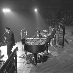 1961. The Dave Brubeck Quartet with Dave Brubeck piano, Paul Desmond altsaxofone, Joe Morello drums and Dave Wright bass perform at the Concertgebouw in Amsterdam. Photo MAI Beeldbank / Nico van der Stam. #amsterdam #1961 #DaveBrubeckQuartet #Jazz #JoeMorello #PaulDesmond #DaveWright