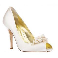 Stunning Wedding Shoe Inspiration from Freya Rose:  Ariel Bridal Shoe with Floral Detail