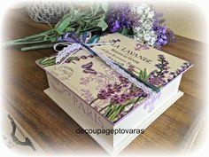 Manualidades en Decoupage: Cajas en Decoupage Decoupage Vintage, Napkin Decoupage, Vintage Wood, Stencils, Decorative Boxes, Gift Wrapping, Diy Crafts, Cards, Fun