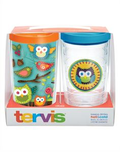 Woodland Owls 2-pack Gift Set - With Lids