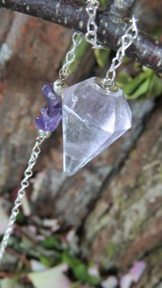 Pendulum. Amethyst Pendulum Divination by WayOfTheCauldron on Etsy
