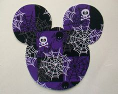 Halloween DIY Iron On Mickey Mouse Fabric Applique - Iron On