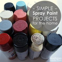 paint spray paint projects on pinterest outdoor planters spray. Black Bedroom Furniture Sets. Home Design Ideas