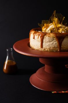This baked Halva Rooibos cheesecake is showstopper. It has a light and soft texture infused with the flavour of South African rooibos and vanilla halva. Torrone Recipe, Halva Recipe, Sweets Recipes, Tea Recipes, Cheese Recipes, Cheesecake Recipes, Caramel Cheesecake, Delicious Desserts, Sweet Treats