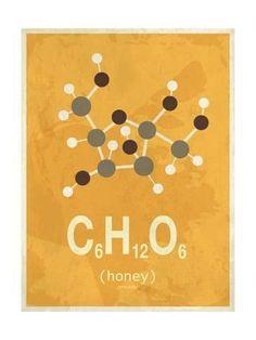 Art Print: Molecule Honey : 24x18in