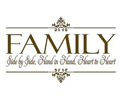 Family Vinyl Wall Decal  Side By Side Hand by openheartcreations