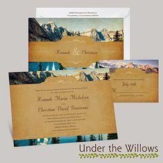 mountain wedding invitations - Google Search | Wedding | Pinterest ...