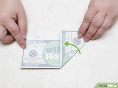 How to Make a Turtle out of a Dollar Bill (with Pictures) Origami Star Paper, Money Origami, Origami Ball, Origami Stars, Origami Flowers, Origami Boxes, Origami Instructions, Origami Tutorial, Easy Dollar Bill Origami