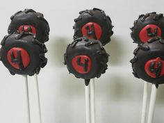 Monster truck cake pops.