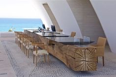 ‪#‎WeLoveDesign‬ @MarquisLosCabos By @Archetonic @JMICHMIZR #Taracea #furniture Javier Suárez #reclaimedwood