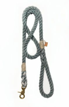 Dog leash pet accessory animal supplies Grey rope by GreyPawDesign, $35.00
