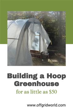 Hoop house greenhouses are great for extending the growing season in cold climates and they are much cheaper and easier to build than glass greenhouses. Because they are such a simple concept – a hoop-shaped structure made with plastic or metal framing that is covered in clear plastic – they make a great, inexpensive DIY project with plenty of flexibility for experimentation. #greenhouse #hoophouse #hoopgreenhouse #diygreenhouse #diy Diy Garden Projects, Garden Ideas, Greenhouse Gardening, Farm Gardens, Financial Tips, Frugal Tips, Greenhouses, Sustainable Living, Frugal Living