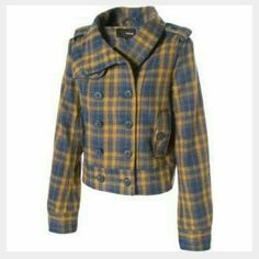 HPNWT HURLEY OLIVER COAT/JACKET! Look Cute this fall and winter!  Femine shape so you wont look boxy.40% Wool 30% Polyester 30% Rayon.  Nice and silky on the inside , so no scratchy wool! Measurements to come! HP  thanks to @kden_wallace!  Hurley Jackets & Coats