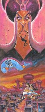 """Disney """"WICKED WISHES"""" Size: 30 x 12   Giclée on Cavas   EDITION 95"""