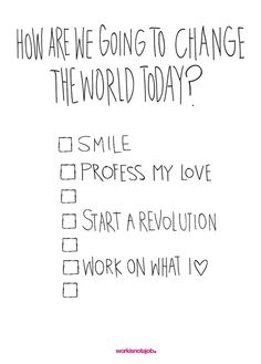 Change The World Today