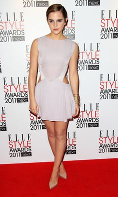 """""""Emma Watson Platform Pumps"""" -   Emma Watson looked divine at the Elle Style Awards in pointy nude platform Pigalle Plato pumps.  Brand: Christian Louboutin"""