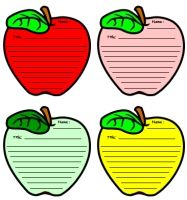 apple template | ... inside extra large pencil templates: My Goals Pencil Writing Templates