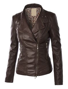 Made By Johnny | Panelled Faux Leather Moto Jacket | $40