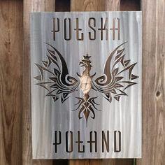Polish Flag Custom Metal Wall Art - https://michiganmetalartwork.com/shop/flags/polish-flag-custom-metal-wall-art/