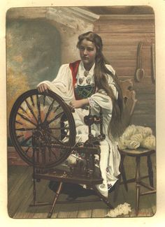 Spinning postcard - hey Mum, do you think the girl in this postcard looks like me?
